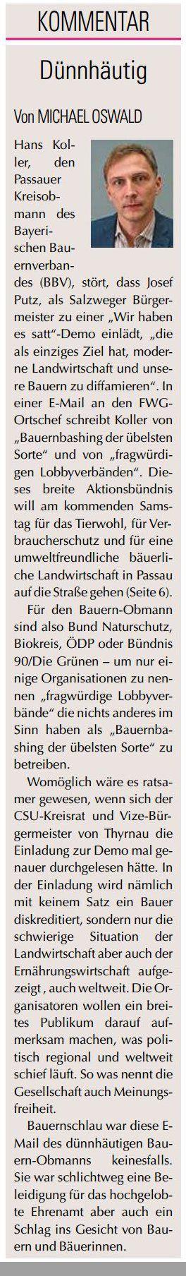 demo wir haben es satt auch in niederbayern bund naturschutz in bayern e v. Black Bedroom Furniture Sets. Home Design Ideas